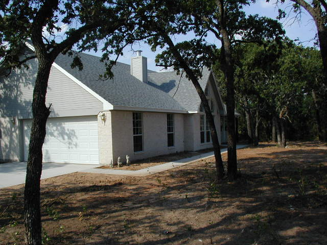 Front left side of new house