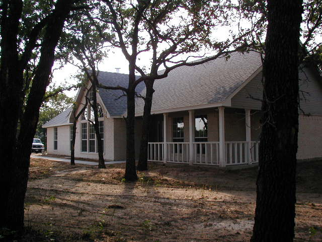 Front right side of new house