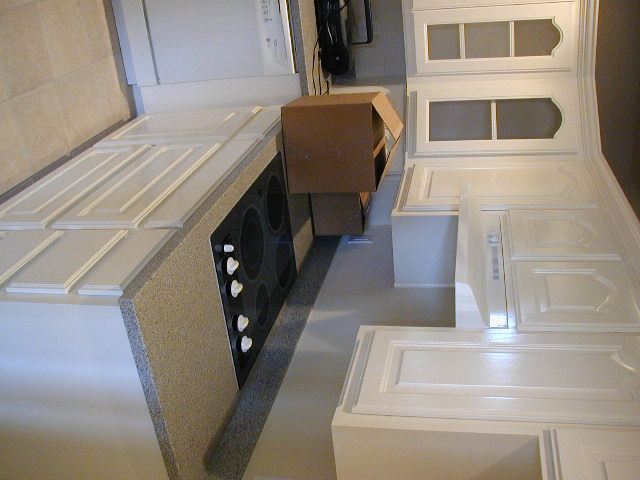 Picture of kitchen laying on its side
